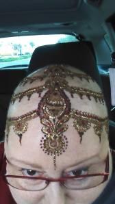 Henna crown selfie